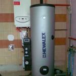 ciepła woda użytkowa ze słońca i gazu