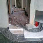 montaż rur pex z systemem rodzielaczowym do ogrzewania podłogowego i grzejnikowego